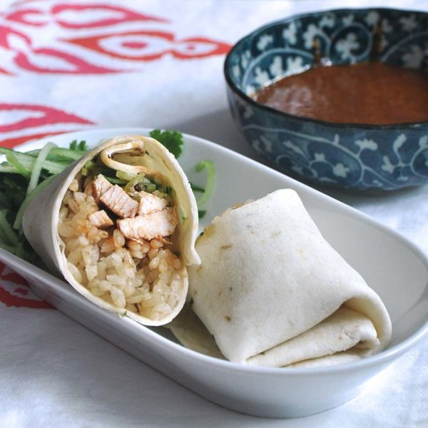 mission foods foldover your leftovers chef sarah benjamin chicken rice