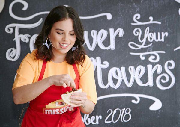 mission foods foldover your leftovers chef sarah benjamin demo