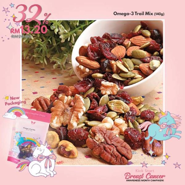 signature market 4th anniversary breast cancer awareness campaign omega-3 trail mix