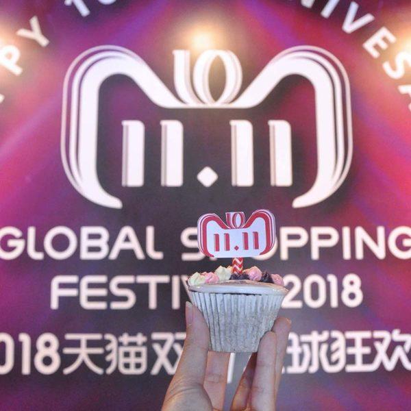 1111 global shopping festival alibaba group tmall kuala lumpur tower cupcake