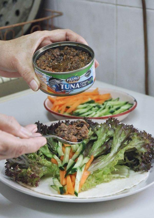 primo tuna green chili wrap