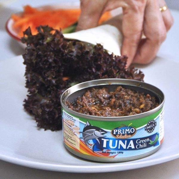 primo tuna green chili wrap on the go