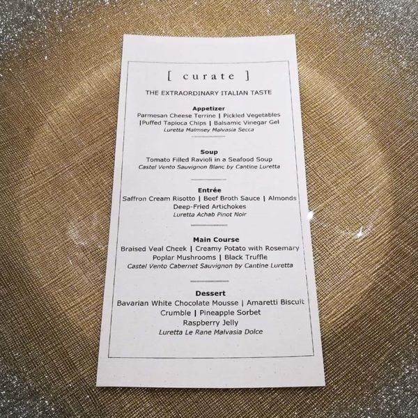 the extraordinary italian taste curate four seasons kl menu
