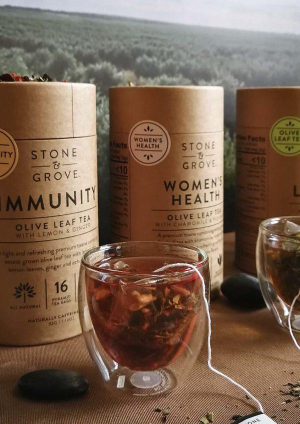 stone and grove olive leaf tea australia immunity flavour