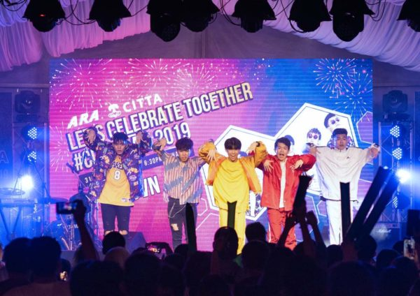 citta mall new year eve countdown party 2019 rejuvenate dance crew rjvn