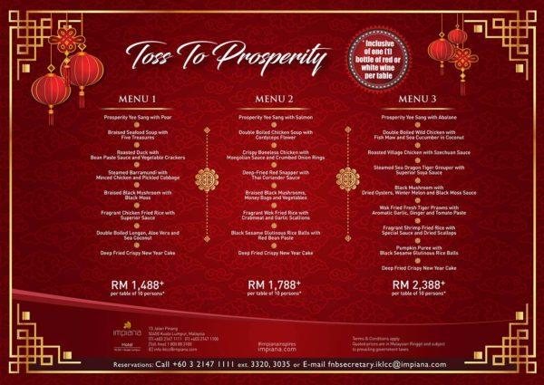 impiana klcc hotel cny banquet menu 2019