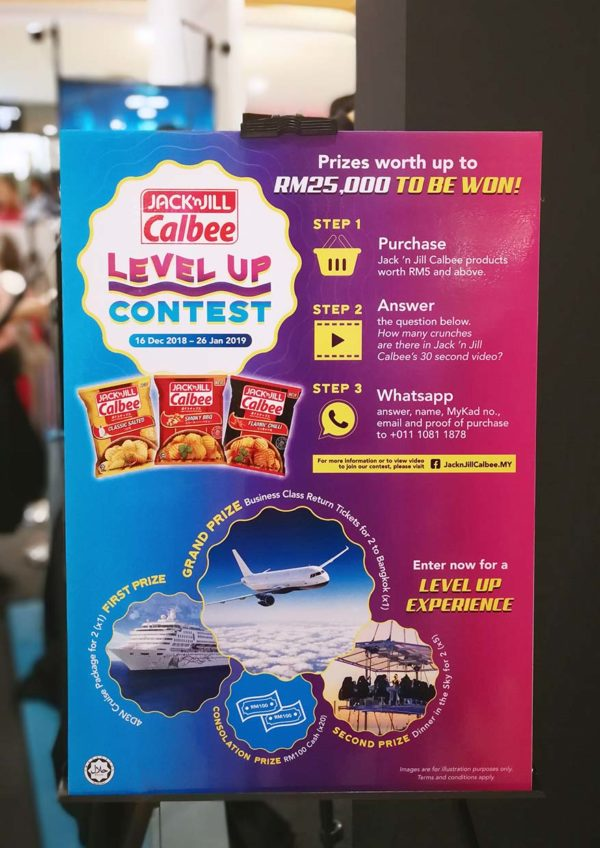 jack n jill calbee potato chips level up purchase and win contest