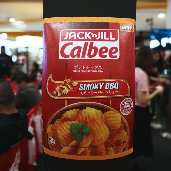 jack n jill calbee potato chips smoky bbq flavour