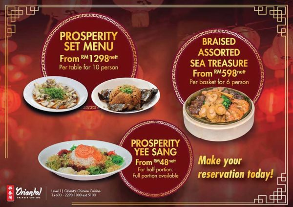 oriental chinese cuisine pullman kuala lumpur bangsar cny set menu promo