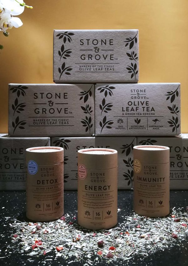 stone and grove olive leaf tea australia antioxidant