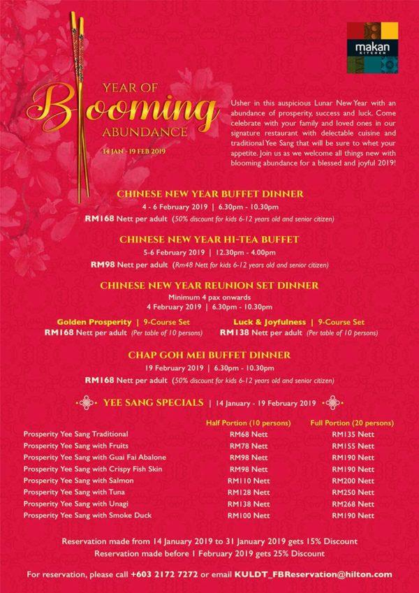 doubletree by hilton kuala lumpur makan kitchen cny buffet promo