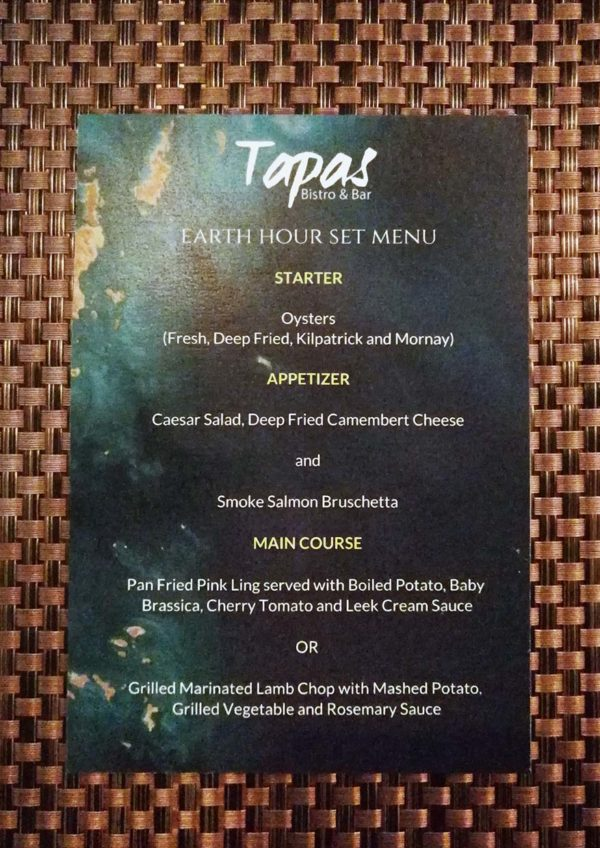 micasa all suite hotel kl earth hour tapas bistro bar