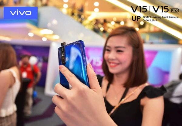 vivo v15pro smartphone elevating front camera 32mp