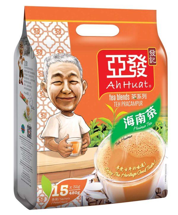 ah huat instant teh c and hainan tea packaging