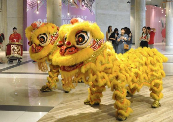 ekocheras mall taste by champignons french dining lion dance