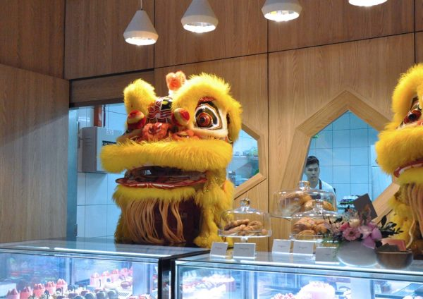 ekocheras mall the champignons cake shop french pastry lion dance
