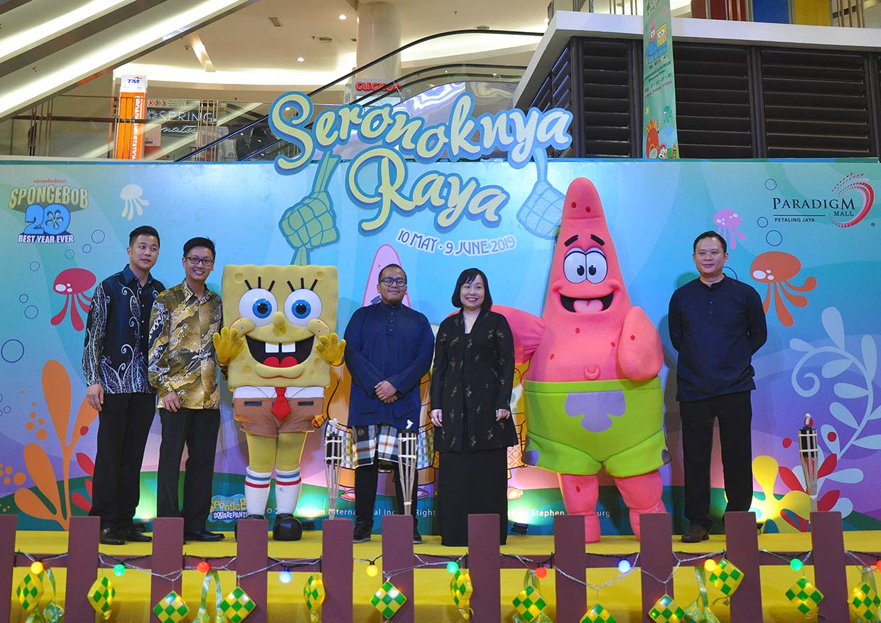 'Seronoknya Raya' With SpongeBob SquarePants @ Paradigm Mall PJ