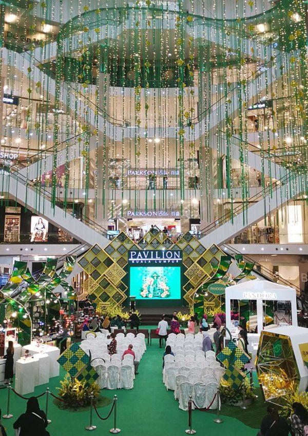 pavilion kuala lumpur festive mall decoration the beauty of raya centre court