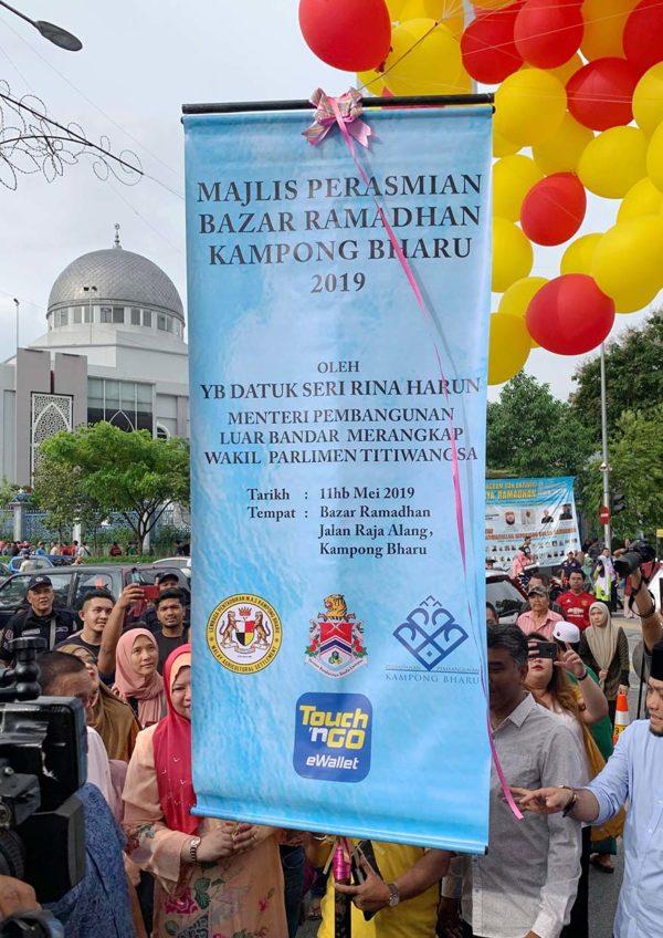 rayasempoi kashless kampong bharu ramadan bazaar touch n go ewallet launching