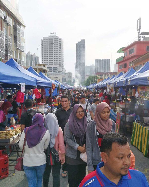 rayasempoi kashless kampong bharu ramadan bazaar touch n go ewallet visitors