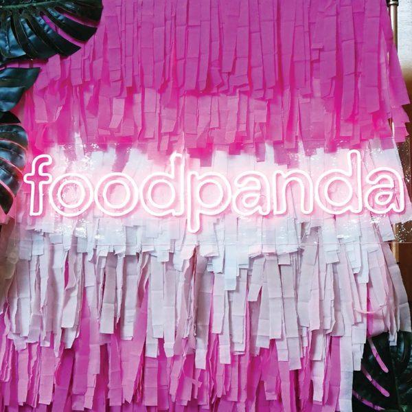 foodpanda online food delivery service backdrop
