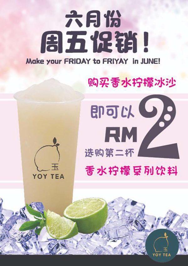 yoy tea bandar sunway perfume lemon beverages june promotion