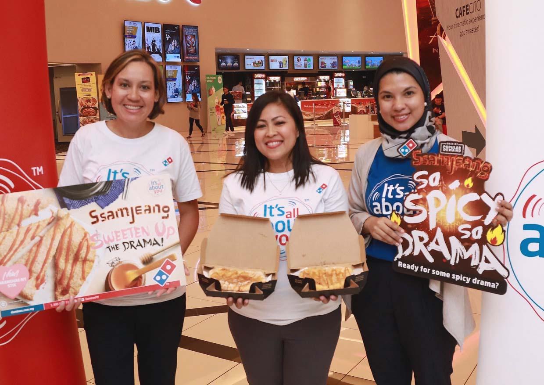 K-Movie Night With Domino's Saranghae-ny Stix & Ssamjeang Pizza