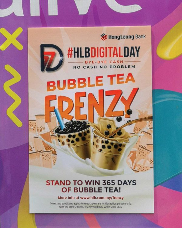 hong leong bank bubble tea frenzy digital day ss15 subang jaya contest