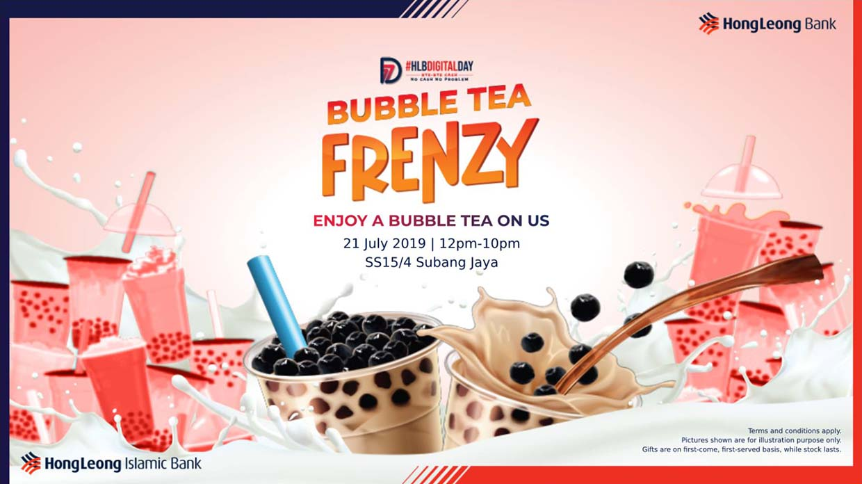 Win 365 Days Of Bubble Tea @ Hong Leong Bank's Bubble Tea Frenzy