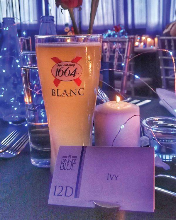 kronenbourg 1664 blanc dinner in blue chateau de caffeinees ivy kam