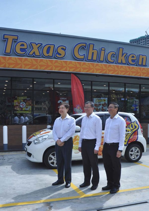texas chicken malaysia drive thru sunway mentari senior team