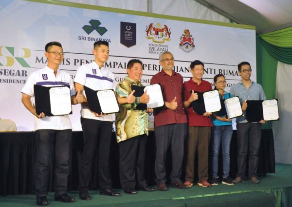 upper label sri binaraya segar residences csr mou signing