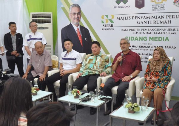 upper label sri binaraya segar residences csr press con