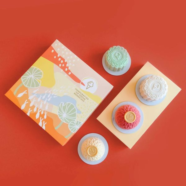 inside scoop ice cream mooncake