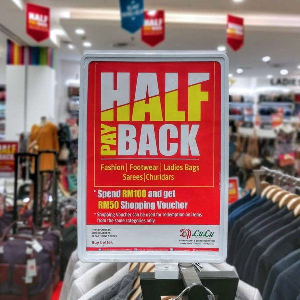lulu hypermarket kuala lumpur half payback offer promotion