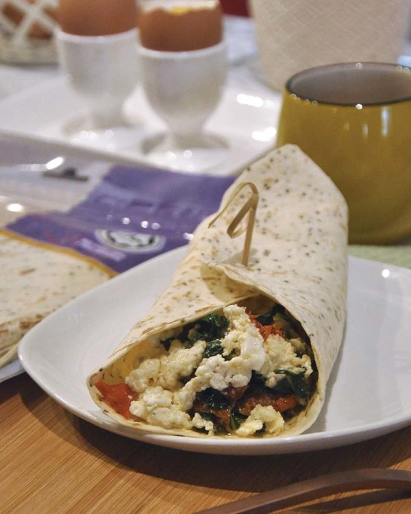 mission foods healthy wraps breakfast of champions spinach feta