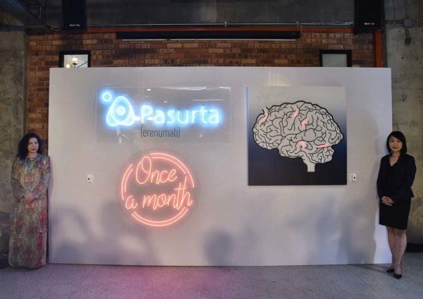 novartis pasurta erenumab migraine prevention launching event