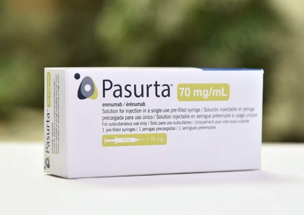 novartis pasurta erenumab migraine prevention monthly injection