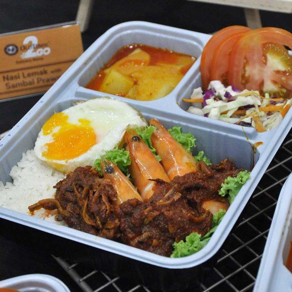 oldtown 2go delivery meals foodpanda nasi lemak prawn sambal