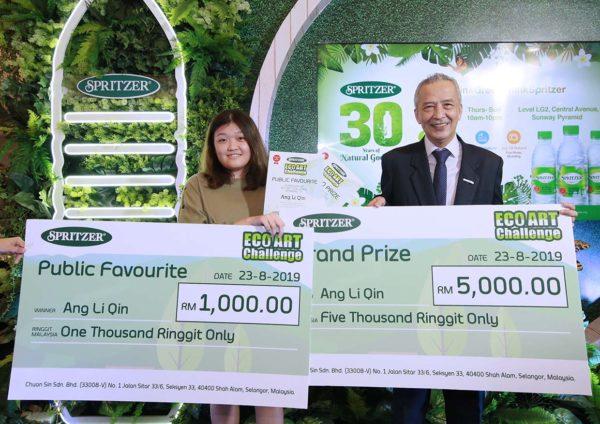 spritzer 30 years of natural goodness eco art challenge winner