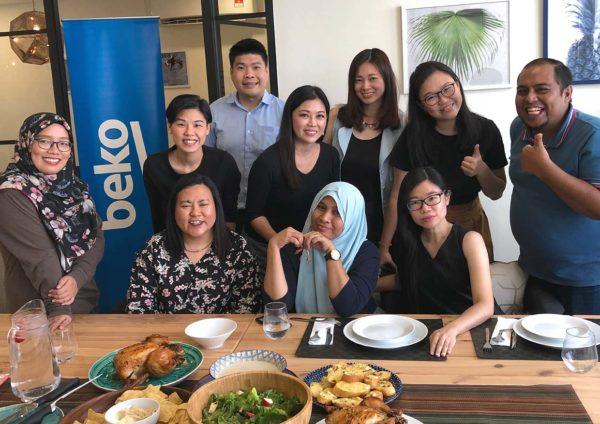 beko healthy eating cooking workshop group shot