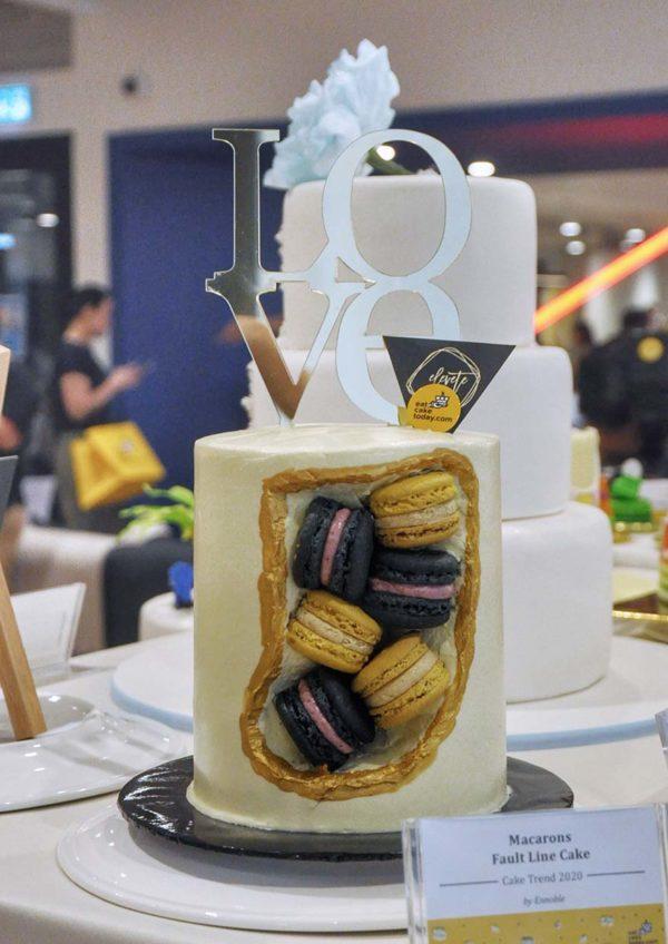 eat cake today the cake show macarons fault line cake