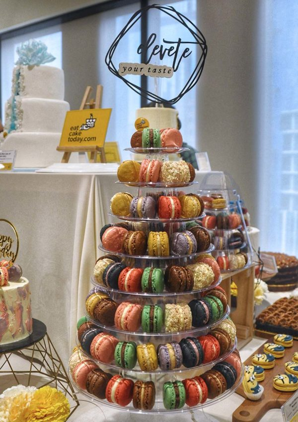 eat cake today the cake show macarons tower