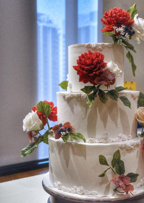 eat cake today the cake show sugar flower wedding cake