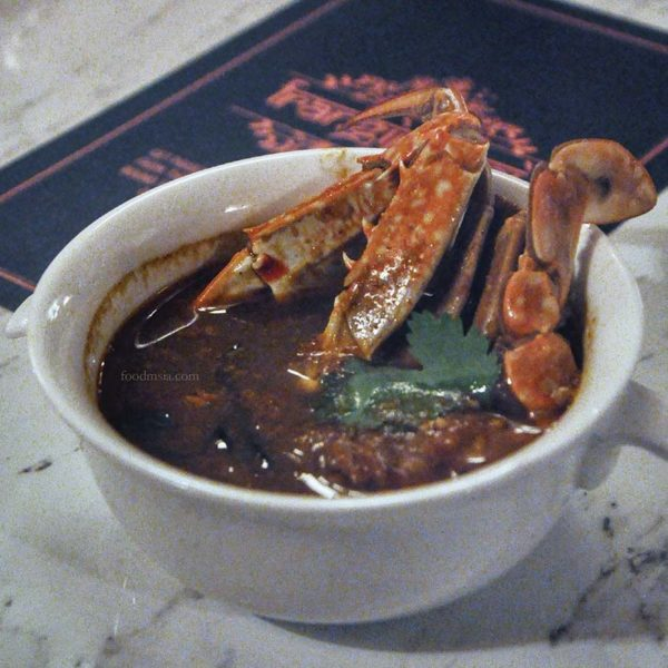 frangipaani the republik damansara heights indian restaurant crab rasam