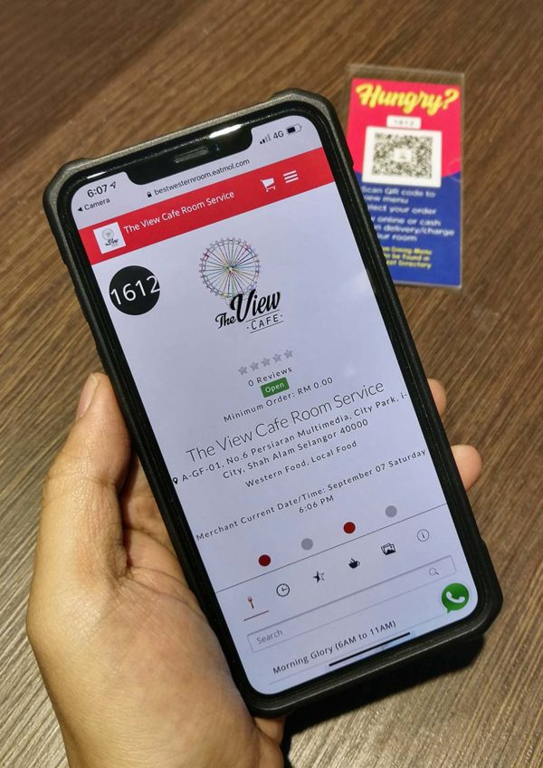 best western i-city shah alam staycation attraction qr code ordering system