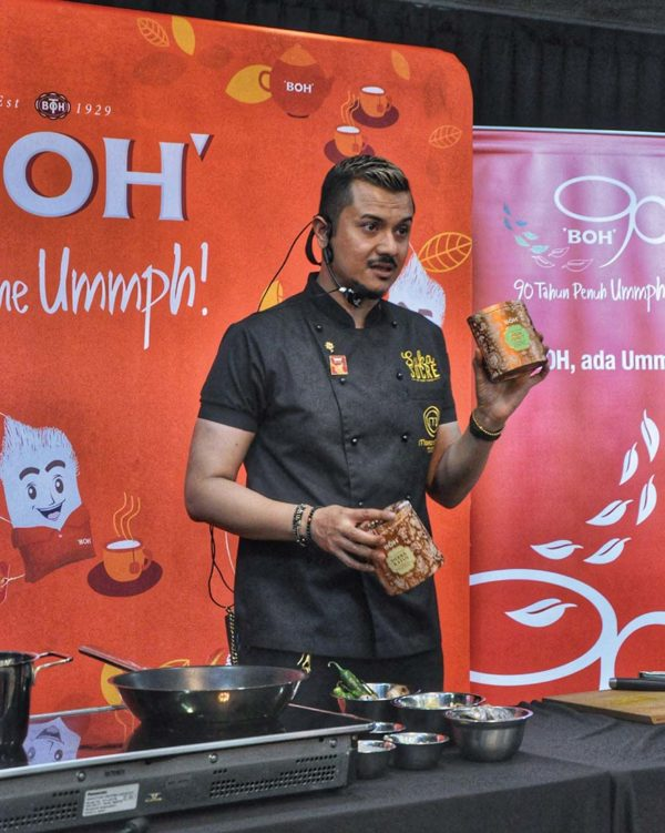dato fazley yaakob cooking session at sukasucre with boh tea demo
