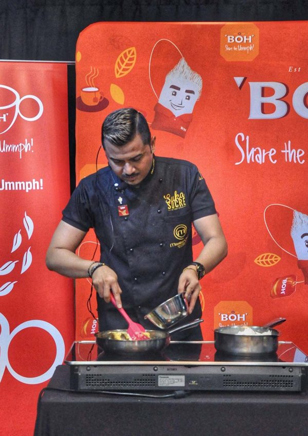 dato fazley yaakob cooking session at sukasucre with boh tea demonstration