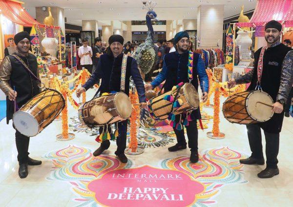 deepavali celebration intermark mall kuala lumpur indian drummers