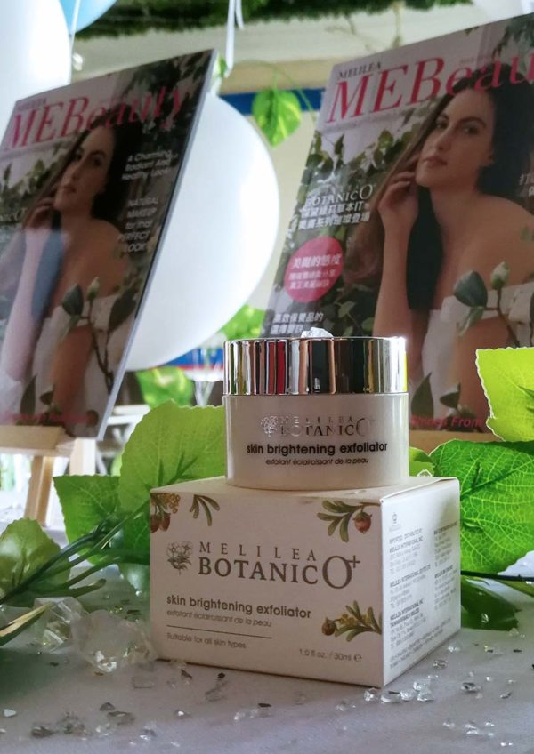 melilea botanico plus ministree mebeauty afternoon tea skin brightening exfoliator